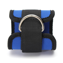 Black Blue Ankle Anchor Strap Pad Durable for Resistance Bands Leg Tubes Fitness Exercise Strength Training
