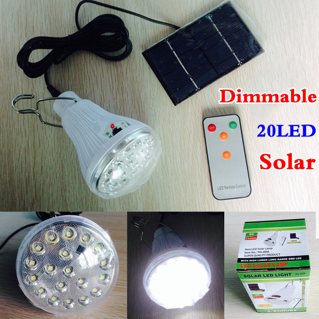 Outdoor Lights Remote Control: Indoor Dimmable 20 Led Remote Control Solar Light Led