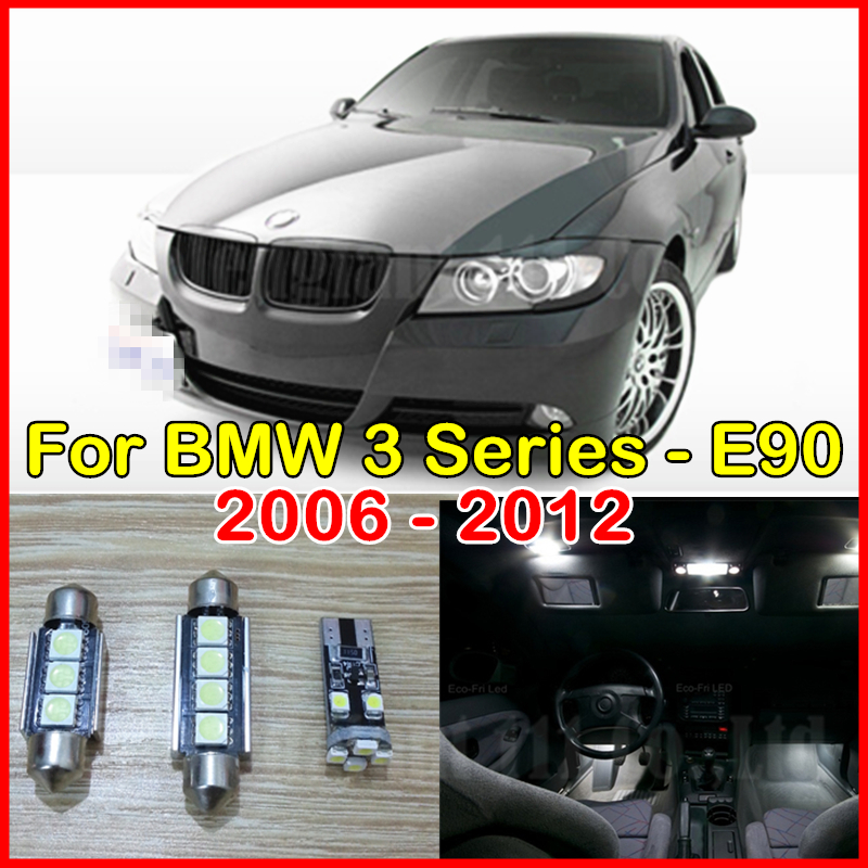 14pieces White Canbus No Error Car LED for BMW 3 Series Sedan M3 E90 Interior light kit - 328i 330i 335i Package Kit 2006-2012(China (Mainland))