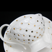 Ingrid set out a genuine special tea cup ceramic cup and saucer low bone china gifts Coffee set 4