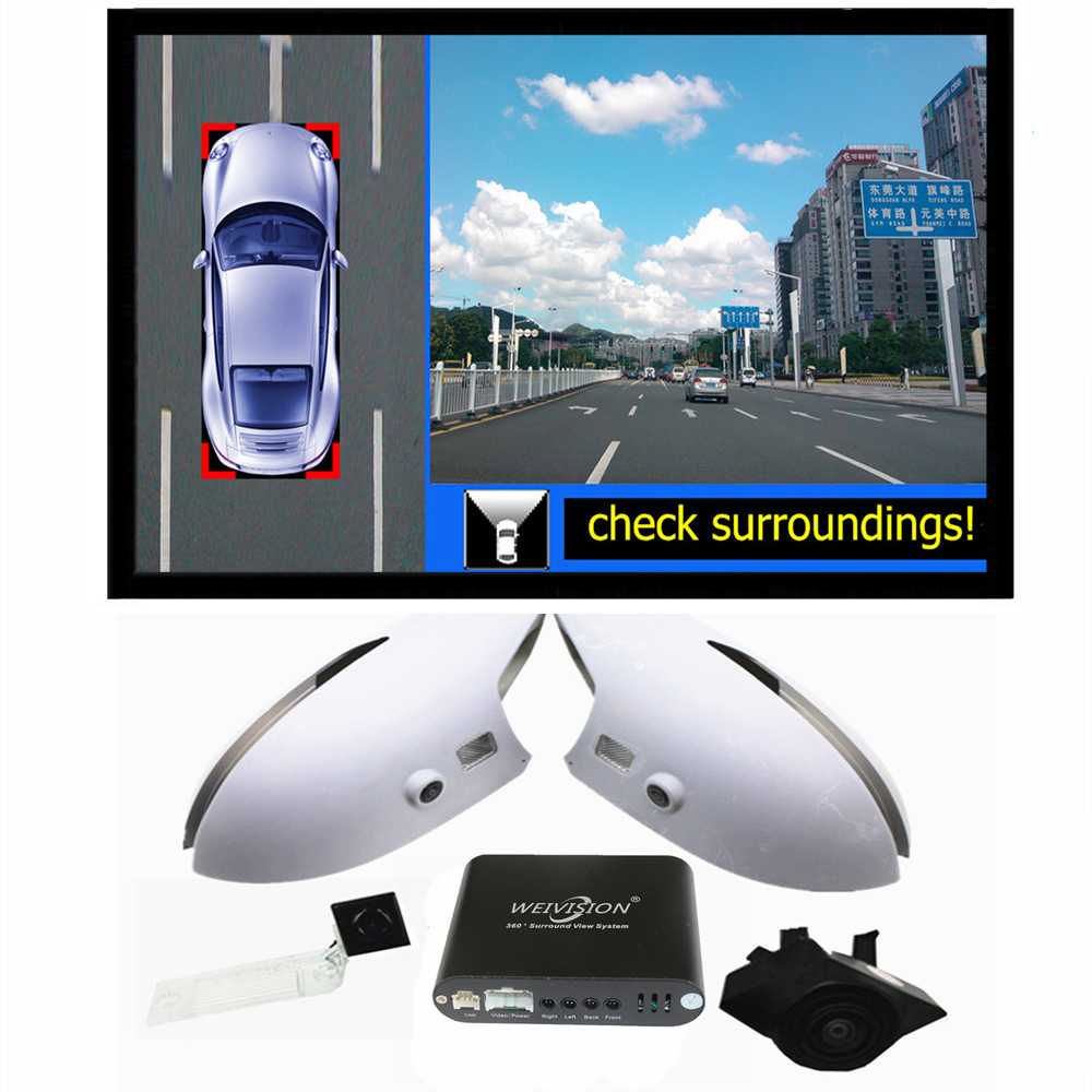 360 bird View Car DVR Record with parking Monitor System, Surround rear View Camera for KIA Sportage Ford Escape Honda ACCORD(China (Mainland))