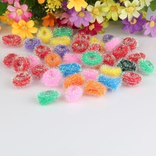 New Mixed Candy Colored Sell By Package High Quality Hair Holders Elastics Hair Tie Gum Causal Headwear Scrunchy Baby Hair Bands