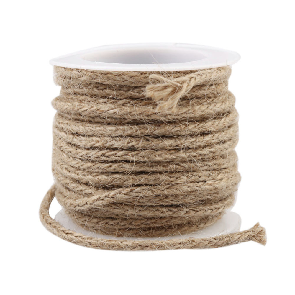 Twine Burlap Gift Wrapping Decor Rope Baking Cookie Packaging Rope Hessian Twisted Jute Twine String DIY Craft Wedding Decor(China (Mainland))
