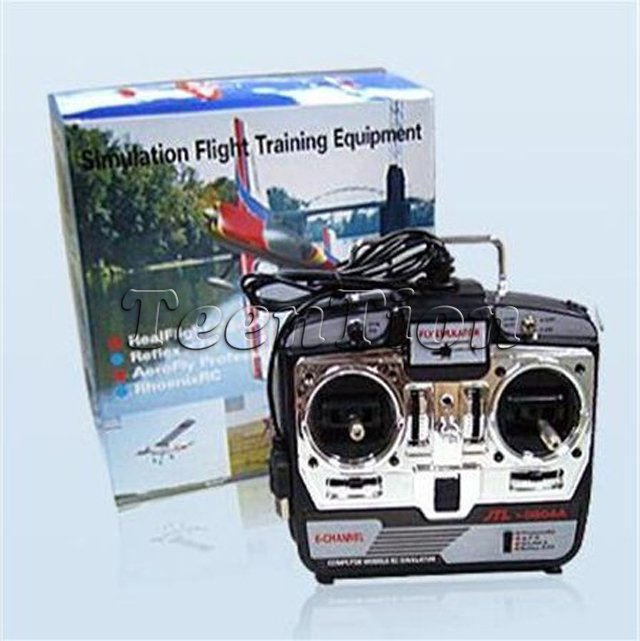 6CH RC Simulator JTL-0904A /JTL0904A real flight helicopter simulator mode 1 2 CD disk P2 - TeenTion Trade LTD store