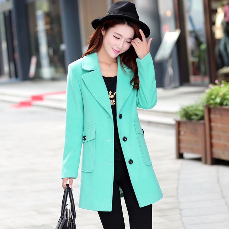 2015 New Free Shipping Hot Sale Autumn/Winter Female New Woolen Coat  Women Coats Ladies CoatsОдежда и ак�е��уары<br><br><br>Aliexpress