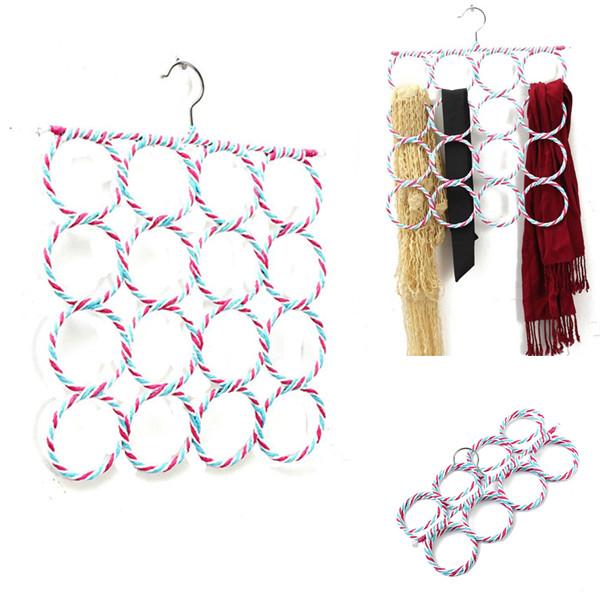 Гаджет  36cm x 36cm Fashion Rattan Weave Shawl Scarf Neat Hangers 16 Holes Slots Belt Tie Hook Organizer Holder  None Дом и Сад