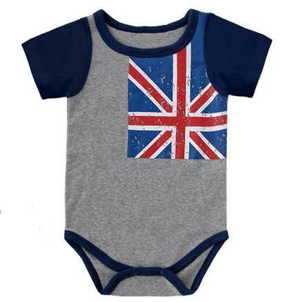 Лето младенцы ползунки мальчик одежда флаг комбинезон новорожденный удобные хлопок младенческой