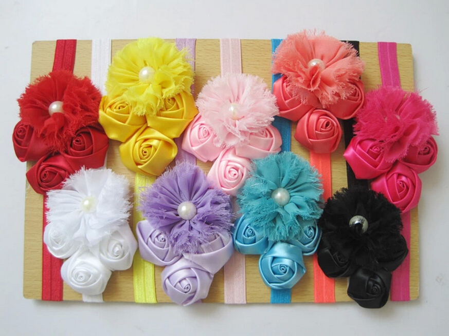 New Baby Girl Headband Hairband Boutique Accessories Baby Hair Band Baby Flower Headwear Christmas Gift 50 pcs/lot Free Shipping
