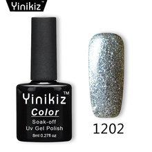 Yinikiz Brilhante Brilho Platina Gel Super Brilho UV Unhas de Gel Polonês Soak Off UV & LED Gel Unhas Laca(China)