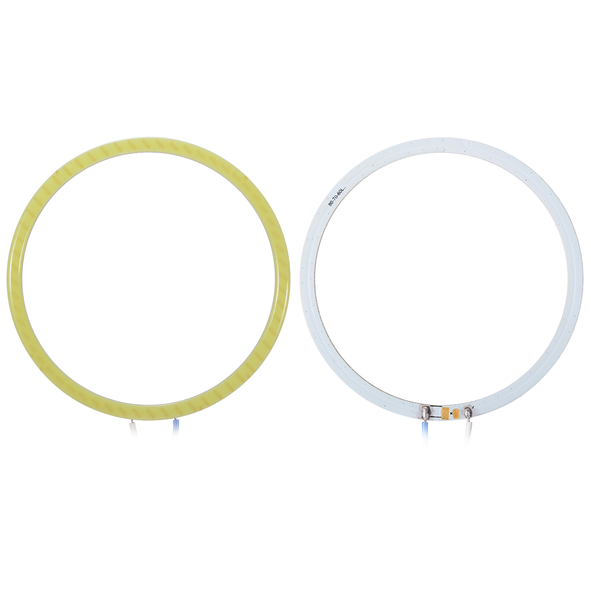 2pc 80mm COB Angel Eye LED Chip Car Light Headlight O Ring smd White Lamp MA258+(China (Mainland))