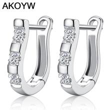 Silver plated earrings female models in Hong Kong high-end fashion cute vintage jewelry super flash crystal jewelry(China (Mainland))
