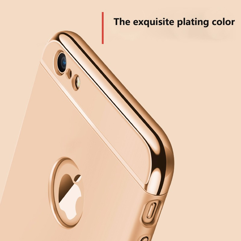 Coque Cases for iPhone 6 6s /Plus Pouch Cover Shell Phone Protector Compact Edge Gold Mobile Black Accessory