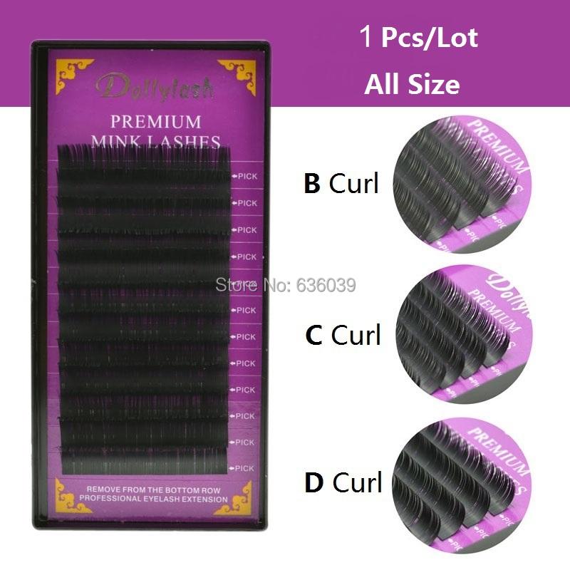 0.07/0.10/0.15/0.20/0.25 mink individual eyelash extension hair false eyelashes free shipping(China (Mainland))