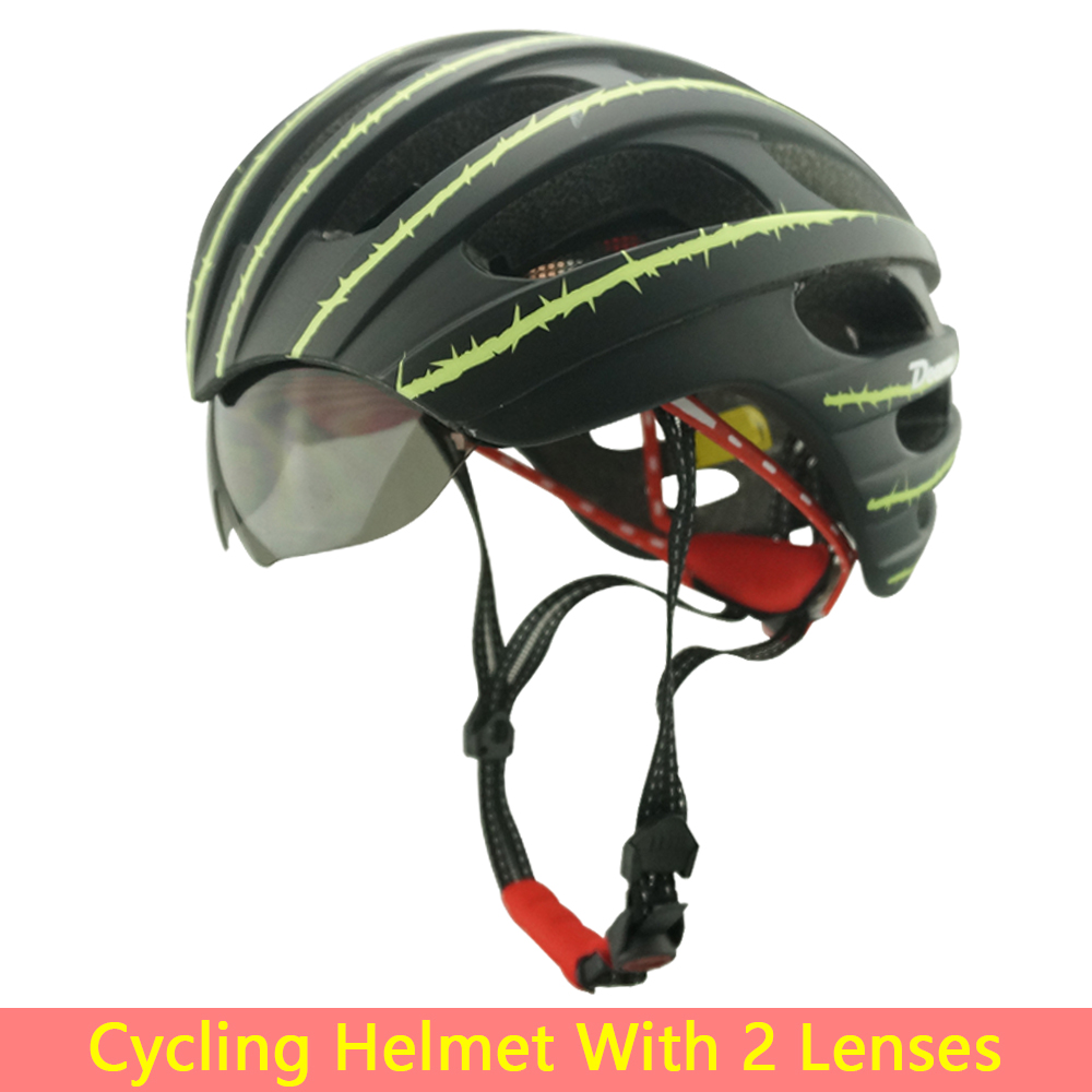 HOT!Bicycle Cycling Helmet EPS+PC Ultralight Mountain Bike Helmet 27 Air Vents With 2 Lenses / Riding GlassesSIZE:56-62cm(China (Mainland))