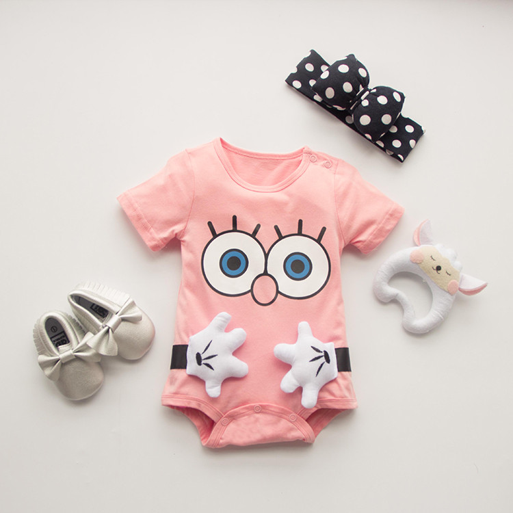 cartoon100 Cotton Short Sleeve font b Clothing b font Similar Jumpsuit Printed Baby font b Boy