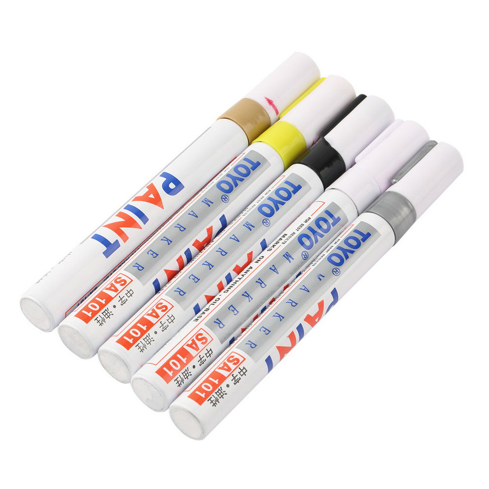 EDFY New Universal White Car Motorcycle Whatproof Permanent Tyre Tire Tread Rubber Paint Marker Pen 5 colors hot selling(China (Mainland))