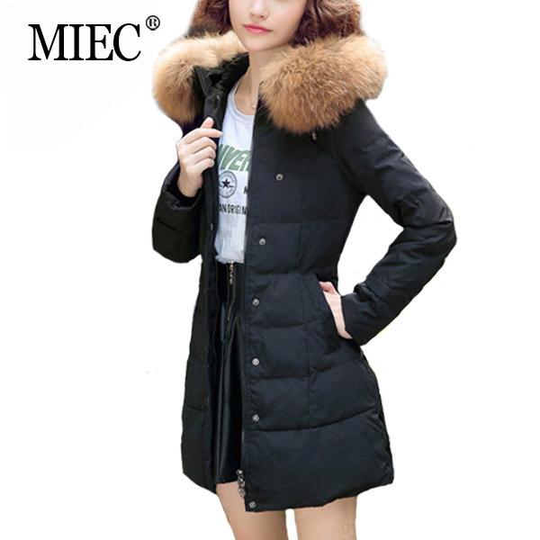 MIEC NEW 2016 Winter Coat Women Fashion Fur Collar Long Jacket Woman Casual Warm Parka European Style Big Size - YOFEAI GOOD CLOTHES Store store