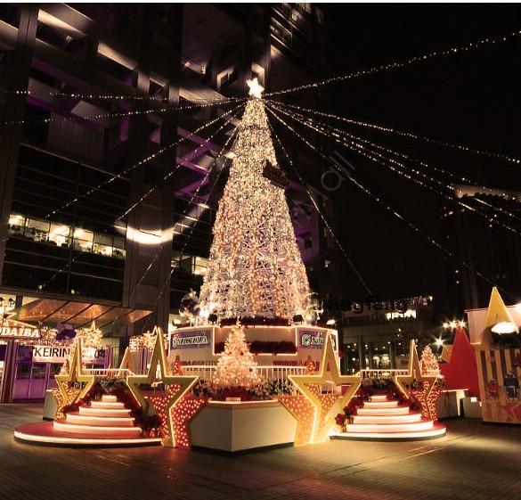 Incre ble 220 v garland led a o nuevo luces de navidad for Luces navidad exterior