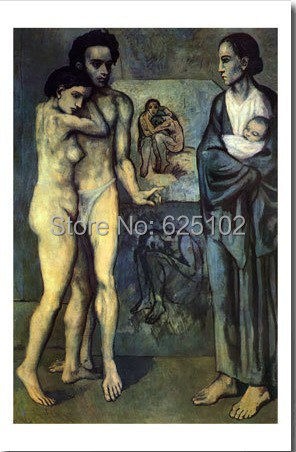 La Vie - Pablo Picasso Painting - high quality oil paintings reproduction(China (Mainland))