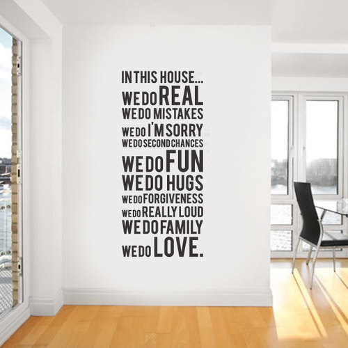 Wall Art Vinyl Decal : Free shipping in this house we do family quotes vinyl