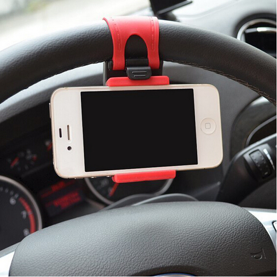 Car Steering Wheel Mount Holder Rubber Band iPhone iPod MP4 GPS Mobile Phone Holders - Moon Beauty Shop store