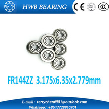 "Buy Free 10PCS FR144ZZ FR1442Z (3.175x6.35x2.779mm) bearing 1/8"" x 1/4"" x 7/64"" inch Flanged Ball Bearing fr144 zz for $9.64 in AliExpress store"