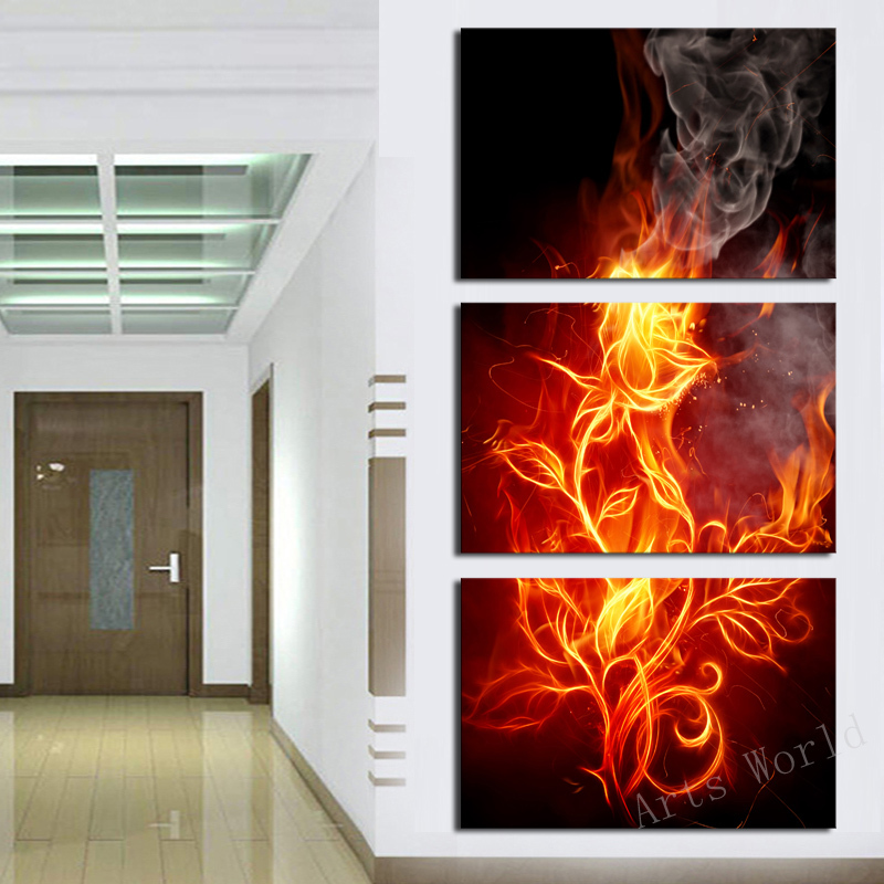 3 Pcs Wall Art Abstract Flower  Modern HD Picture Home Decoration Living Room  Canvas Print Painting  picture  canvas picture