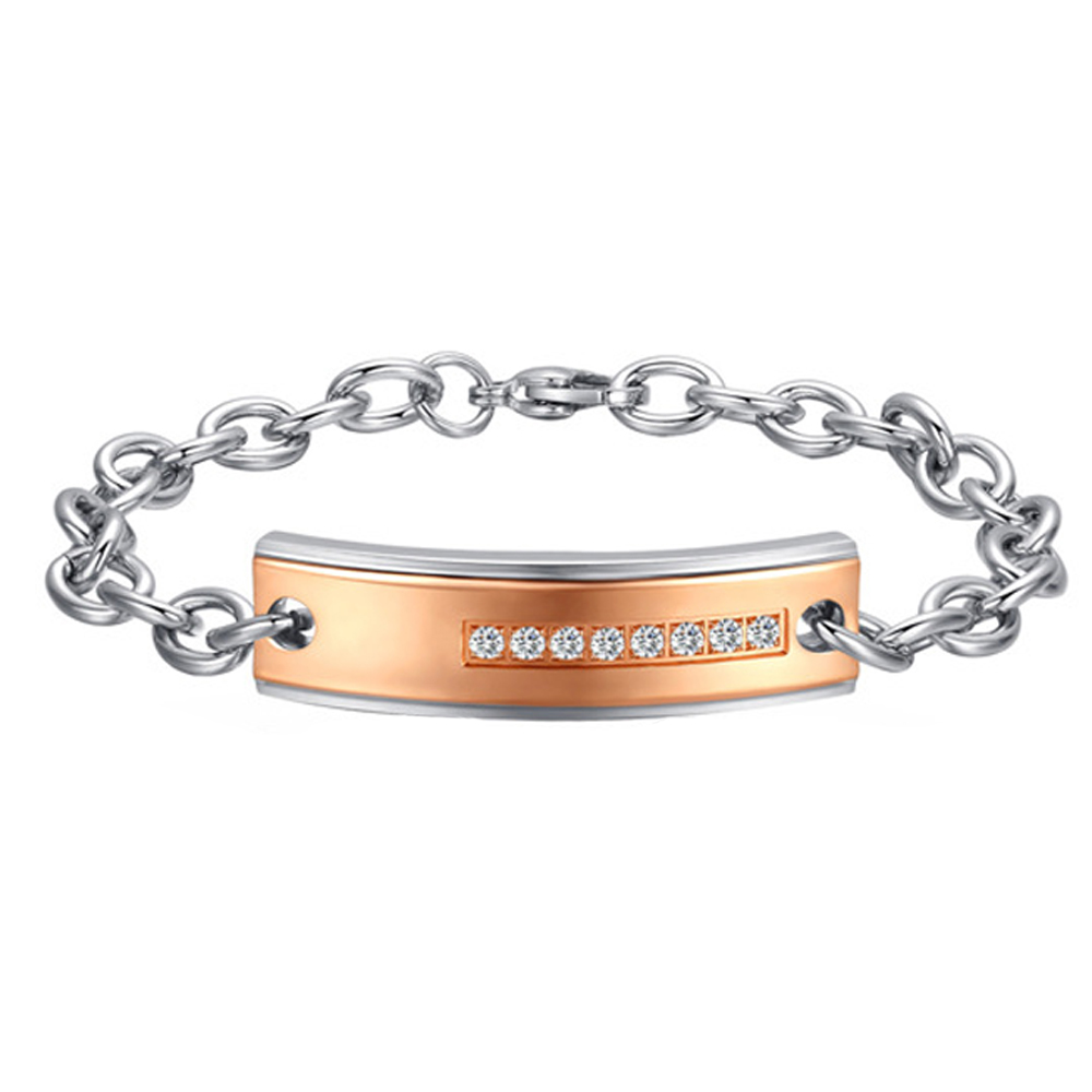 2016 Free Shipping Lovers Jewelry Lovers Cubic Zirconia Lover's Bracelets & Bangles Fashion Women Men Jewelry(China (Mainland))