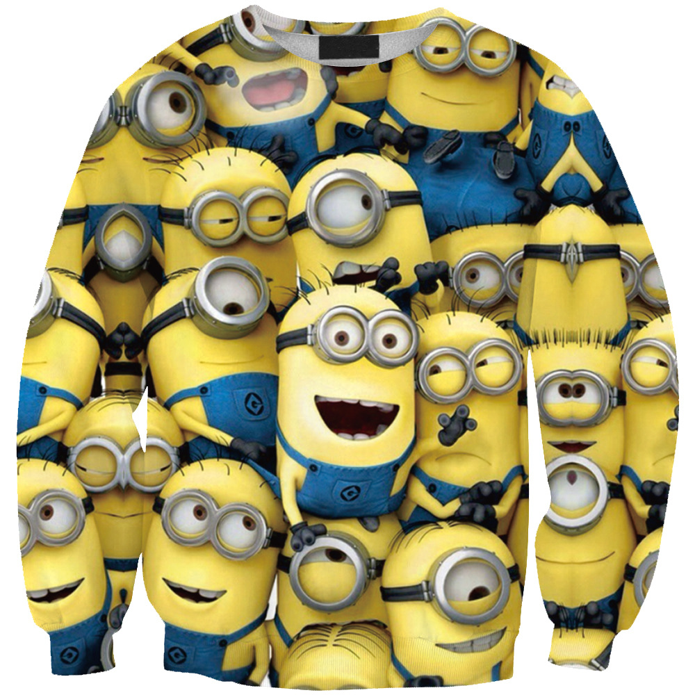 Alisister Cute women/men cartoon hoodies despicable me print 3d sweatshirt simpsons winter minions coat clothes Harajuku top(China (Mainland))
