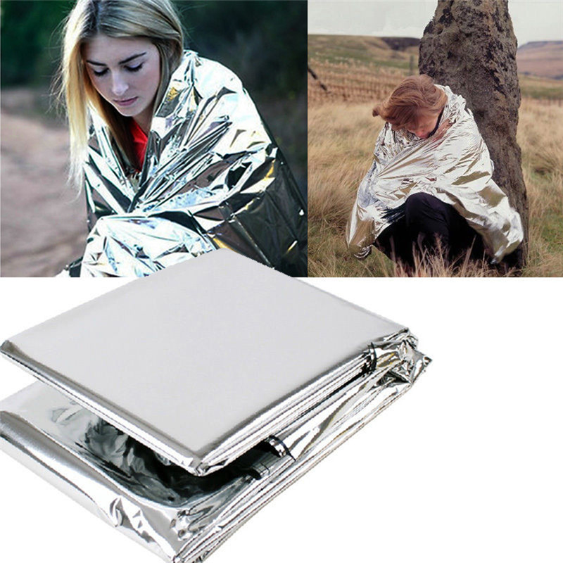 Гаджет  Brand New Water Proof Emergency Survival Rescue Blanket Foil Thermal Space First Aid Sliver Rescue Curtain Outdoor None Спорт и развлечения