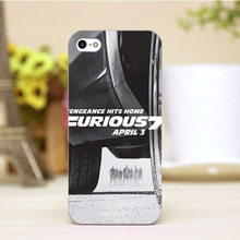PZ0004-41-3 For Furious 7 Design Customized cellphone transparent cover cases for iphone 4 5 5c 5s 6 6plus Hard Shell