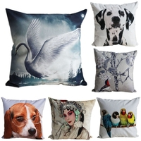 Nice Short Plush Sofa Cushion Pillow Case/Cover with 3D Digital Patterns on #D6