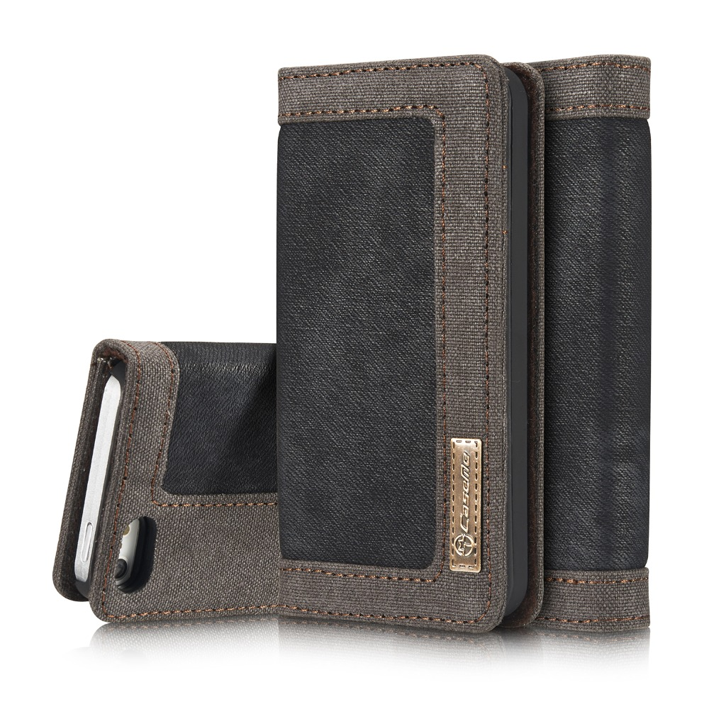 For iPhone 5 5S SE Phone case Retro luxury Magnets flip Waterproof canvas cowboy style leather cover Wallet +Card Holder(China (Mainland))