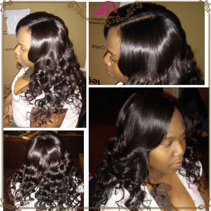 Cheap Unprocessed Remy 100 Brazilian Virgin Hair 4 Bundles Brazilian Body Wave Unprocessed Hair Human Hair Weave Color 1B<br><br>Aliexpress