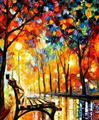 Hand Painted Oil Painting Picture Modern Paintings On Canvas Street Landscape Pictures For Living Room Decor