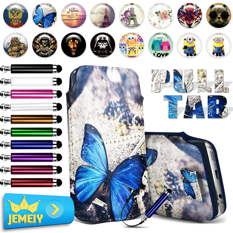 Hot! For Gigabyte GSmart Guru G1 Case Minion Print Luxury Leather Pull Tab Sleeve Pouch Bag Cover For Jiayu S2 Cases Middle Size(China (Mainland))