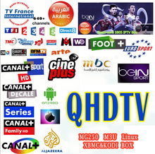6months QHDTV IPTV French Arabic Canal+ Digispain Movies works MAG250,Enigma2 with 3RCA Cable Free Shipment