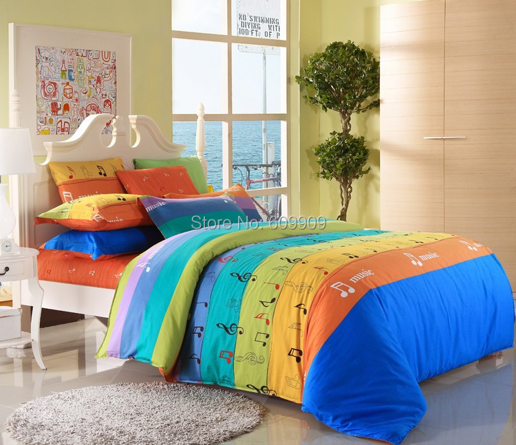 5 pieces music notes bedding sets twin full queen king music note sheets music bedding for girls. Black Bedroom Furniture Sets. Home Design Ideas