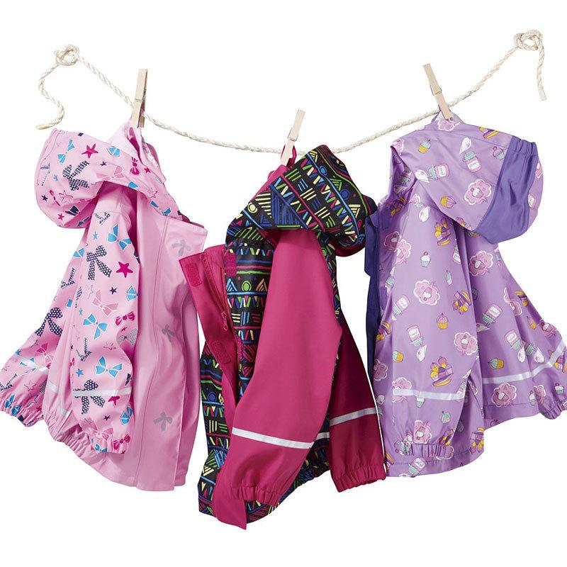 Fashion PU Kids Raincoat with Hood Children Rainwear(China (Mainland))