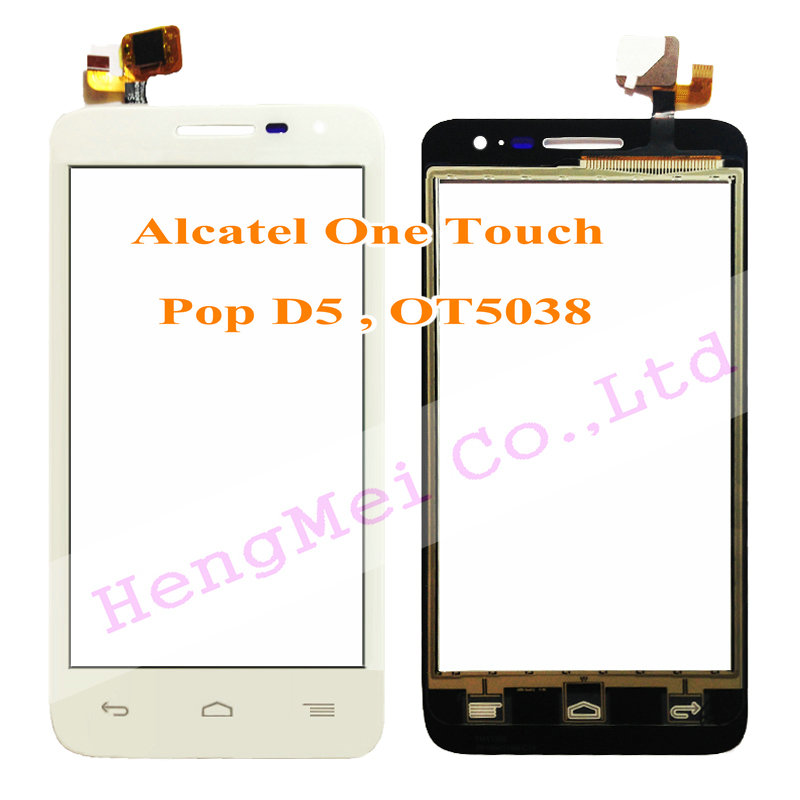 1pc White Touch Panel Alcatel One POP D5 OT5038 5038 5038A/D/E/X Screen Digitizer Outer LCD Glass Free Post+Tool - HengMei Technology Co.,Ltd store