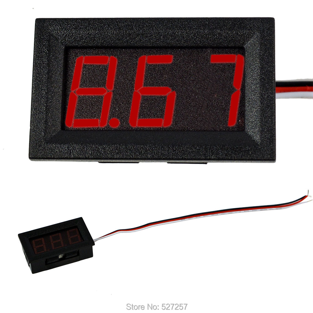 Instruments Red LED Mini Digital Voltmeter DCPanel Volt Meter 0V To 99.9V Voltage Meters Electrical Testers(China (Mainland))