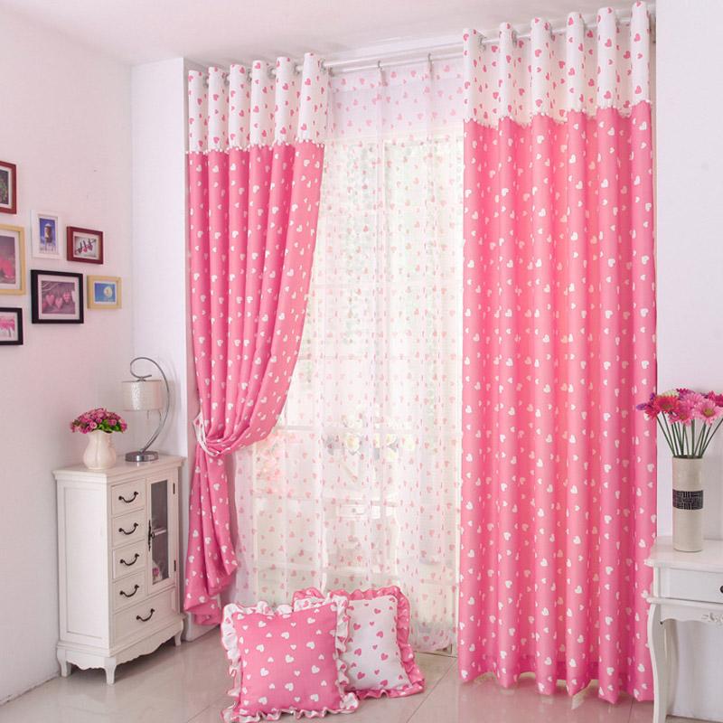 Caliente-venta-príncipes-rosa-polka-dot-cortina-de-la ...