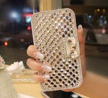 "Buy Luxury Bling Crystal White PU Leather Wallet Case Cover Asus Zenfone 2 laser/ZE500KL/ZE500KG/Z00ED fundas case 5.0"" for $9.09 in AliExpress store"