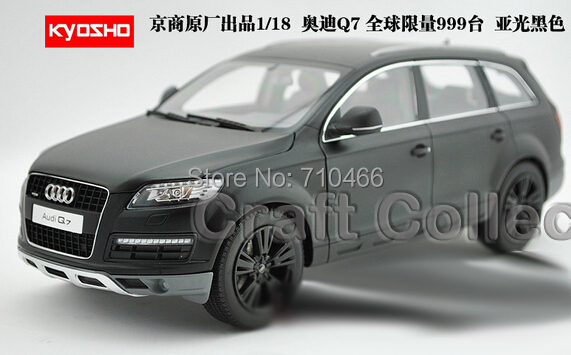 Rare Matte black Car Model 1:18 Kyosho Audi Q7 2009 SUV Diecast Model Car Off Road Vehicle Cross Country Jeep(China (Mainland))