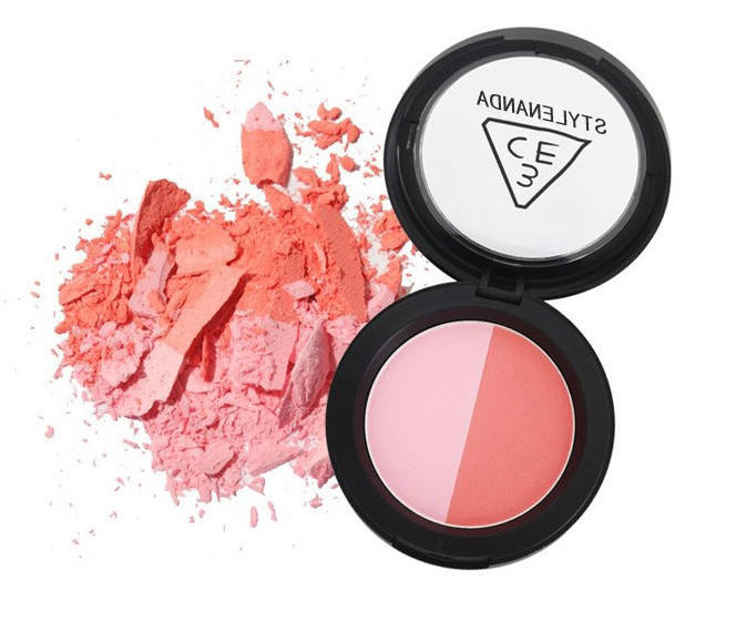 Blush Cosmetics Long Lasting Sweet Two-tone Blusher Powdery 5pcs / lot Palette Brand Makeup Naked Mixed Color freeshipping(China (Mainland))