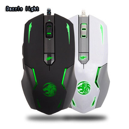 Dazzle light L6 Breathing LED 3200DPI  PC Computer Professional Gaming USB Wired Mouse Mice For CF LOL Free Shipping<br><br>Aliexpress