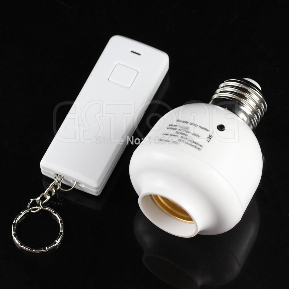 Free Shipping 10M Wireless Remote Control E27 Screw Light Lamp Bulb Holder Cap Socket Switch(China (Mainland))