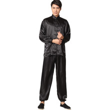 Buy New Chinese Traditional Men's Satin Rayon Kung Fu Suit Vintage Long Sleeve Tai Chi Wushu Uniform Clothing M L XL XXL 3XL L070626 for $20.40 in AliExpress store