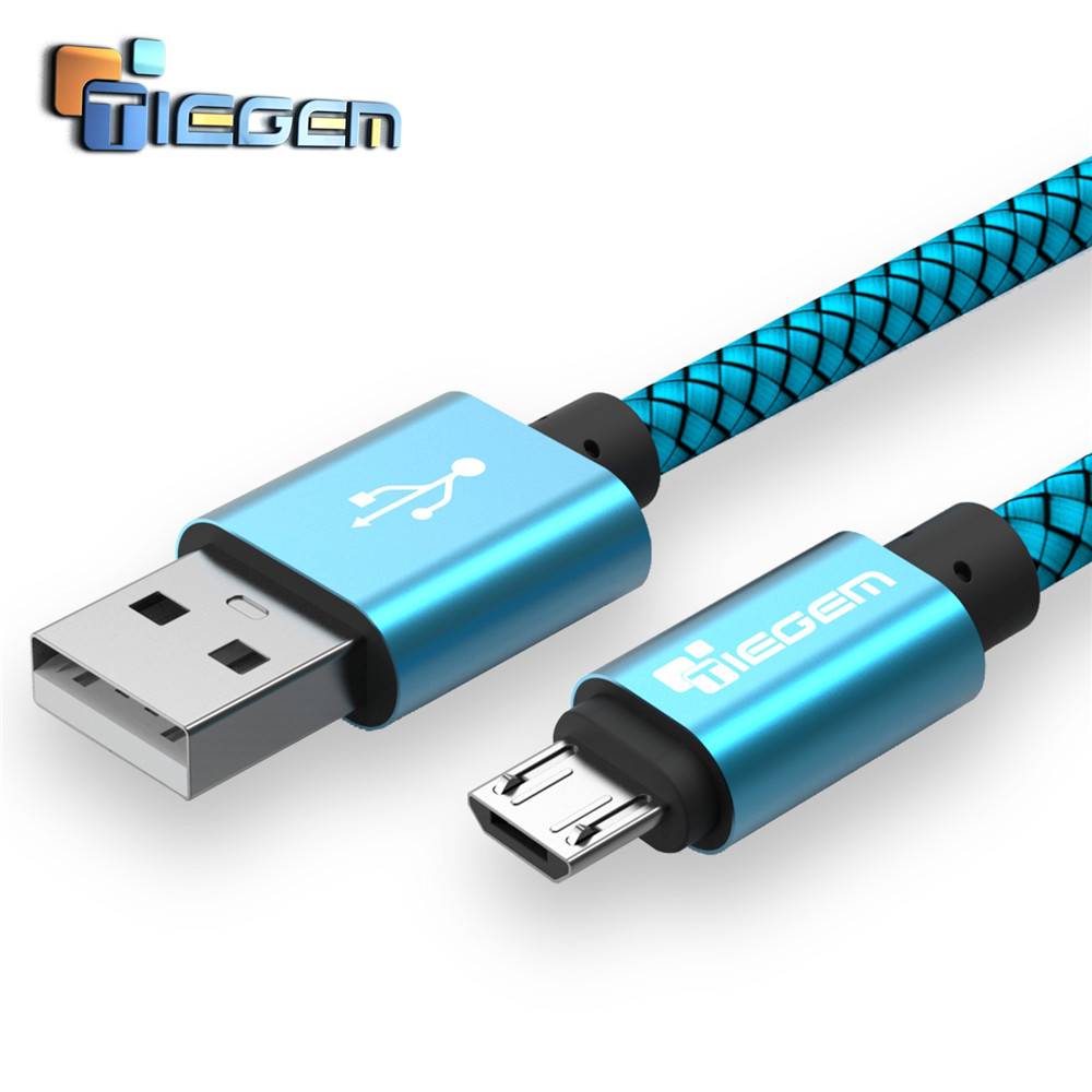 Tiegem Micro usb Cable for Samsung galaxy S7 HTC MEIZU SONY Android 02 1M Fast Charge wire Microusb Nylon Mini USB Charger Cable(China (Mainland))