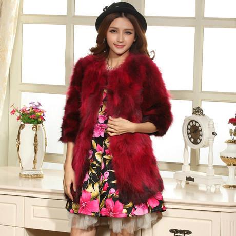 new Genuine raccoon Fur Coat women's Jacket winter warm luxury fur waistcoats plus size F596 - Cocol colette Fashion co.,Ltd store